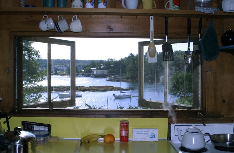 August morning view from the Hillside Cottage kitchen window