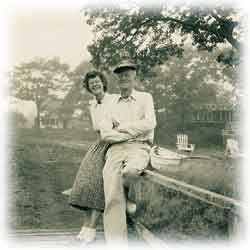 Peg and Dick Thorpe at Harborfields