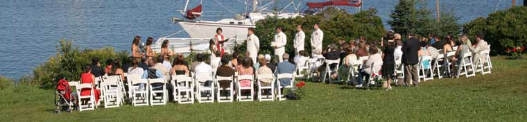 Waterfront wedding at Harborfields
