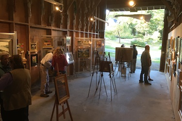 From inside the Boat Barn Art Gallery at Harborfields