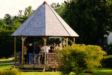 Party at the Gazebo, Harborfields Cottages, Boothbay Harbor, Maine!
