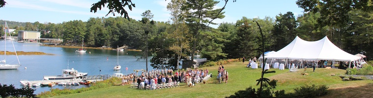 Waterfront Weddings in West Boothbay Harbor, Maine