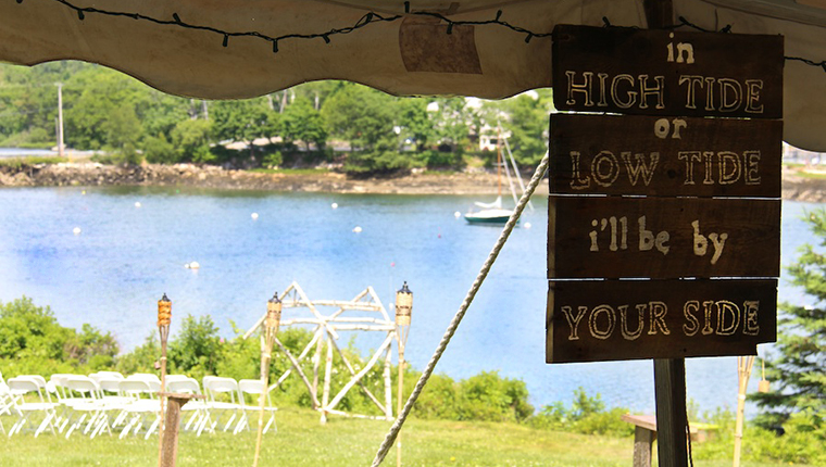 High Tide or Low Tide, I'll be by Your Side, Weddings at Harborfields Cottages, Boothbay Harbor, Maine!