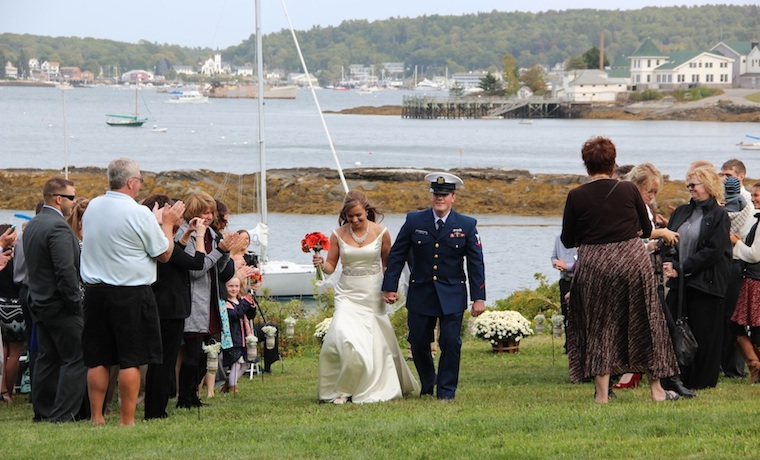 Introducing Mr. and Mrs..... at Harborfields Cottages, Boothbay Harbor, Maine!