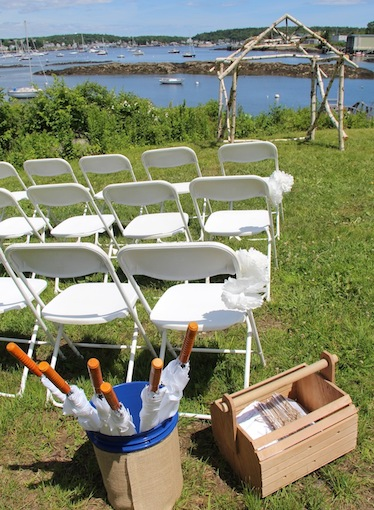 Waterfront Ceremony Site at Harborfields Cottages, Boothbay Harbor, Maine!