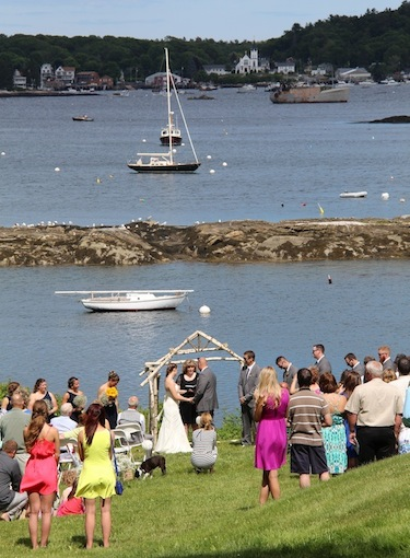 Pronounced Husband and Wife on the Waterfront at Harborfields Cottages, Boothbay Harbor, Maine!
